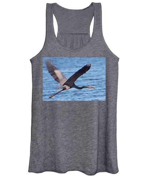 Blue Heron Wingspan Women's Tank Top