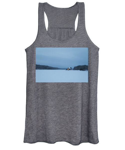Blue Hour At The Old Stone Church Women's Tank Top