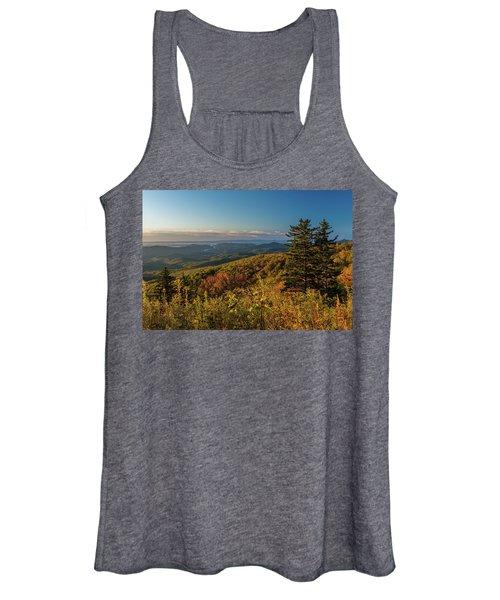 Blue Ridge Mountain Autumn Vista Women's Tank Top