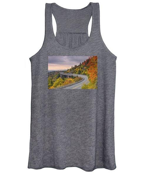 Lynn Cove Viaduct-blue Ridge Parkway  Women's Tank Top