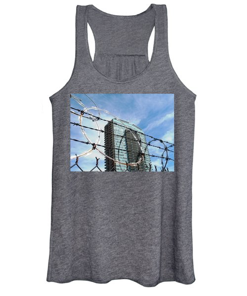Blue Sky And Barbed Wire Women's Tank Top