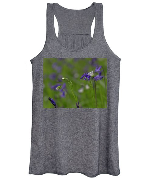 Bluebells And Stitchwort  Women's Tank Top
