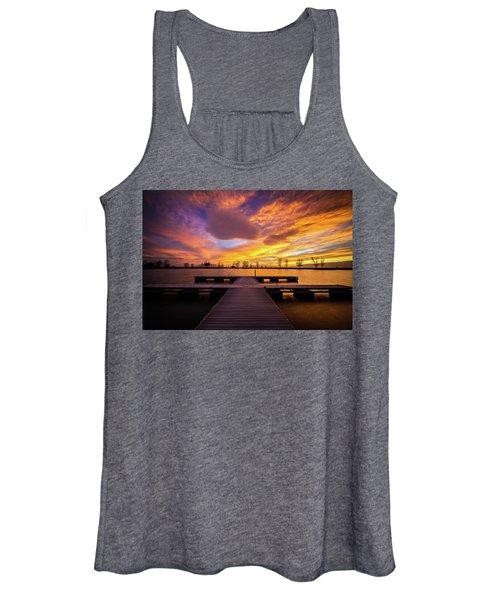 Boat Dock Sunset Women's Tank Top