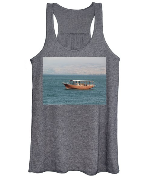 Boat On Sea Of Galilee Women's Tank Top