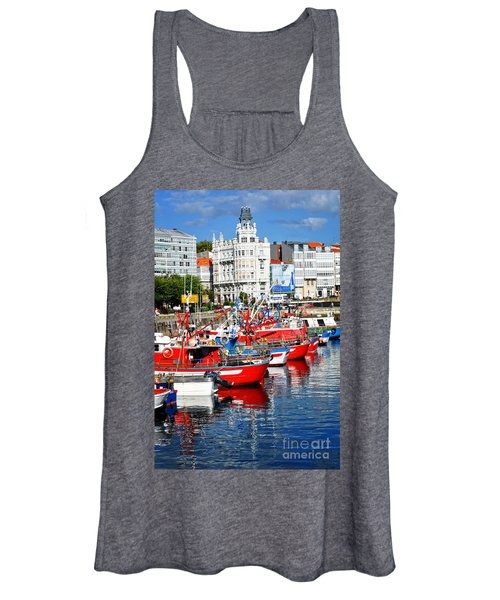 Boats In The Harbor - La Coruna Women's Tank Top