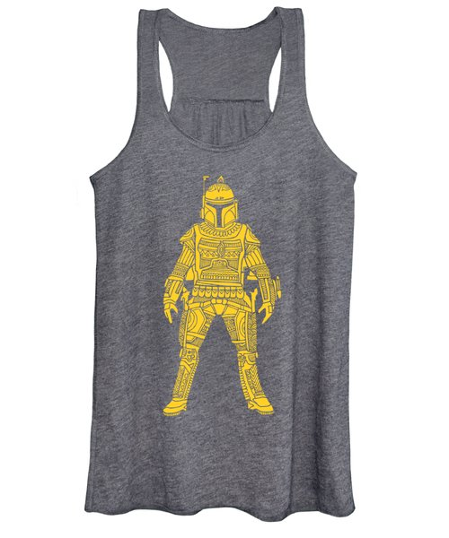 Boba Fett - Star Wars Art, Yellow Women's Tank Top