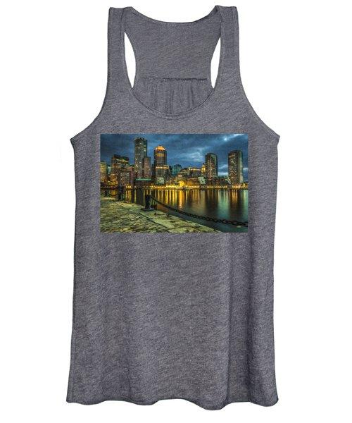 Boston Skyline At Night - Cty828916 Women's Tank Top