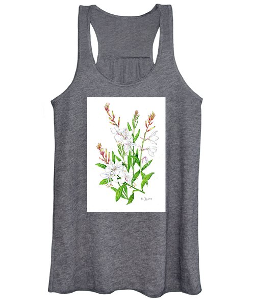 Botanical Illustration Floral Painting Women's Tank Top