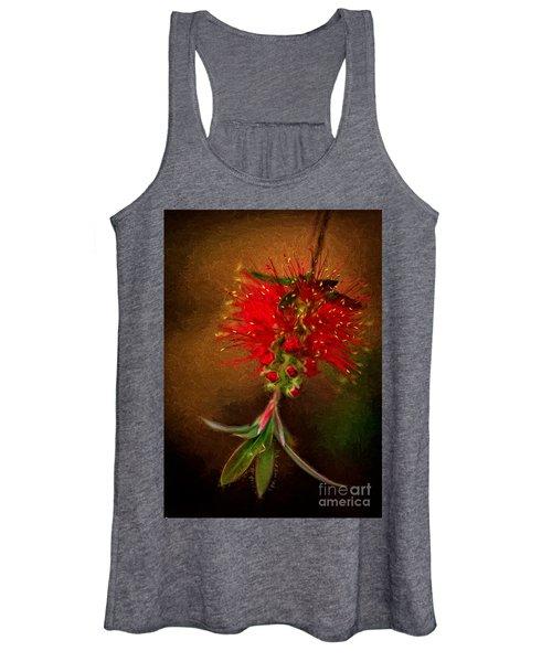 Bottle Brush Flower Women's Tank Top