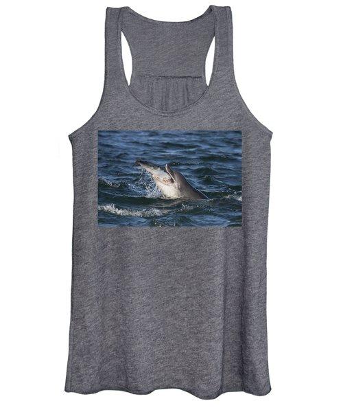 Bottlenose Dolphin Eating A Salmon - Scotland #5 Women's Tank Top