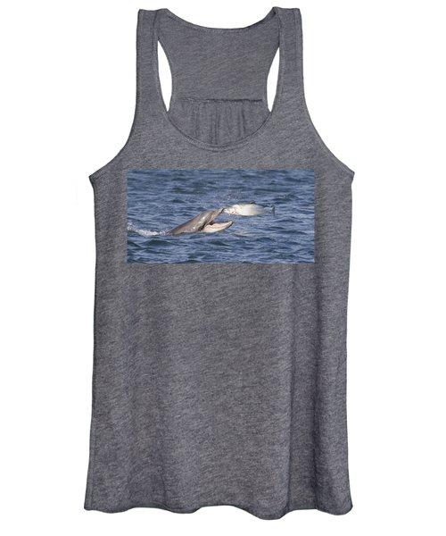 Bottlenose Dolphin Eating Salmon - Scotland  #36 Women's Tank Top