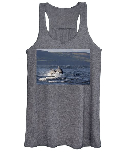 Bottlenose Dolphins Leaping - Scotland  #37 Women's Tank Top