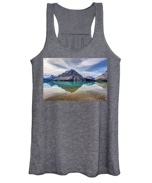 Bow Lake Reflection From Num-ti-jah Lodge  Women's Tank Top