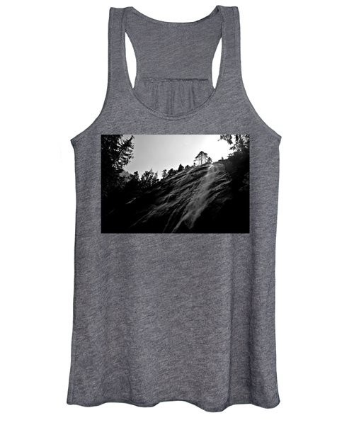 Bridal Veil Falls In Black And White Women's Tank Top