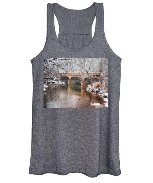 Bridge In Winter  Women's Tank Top