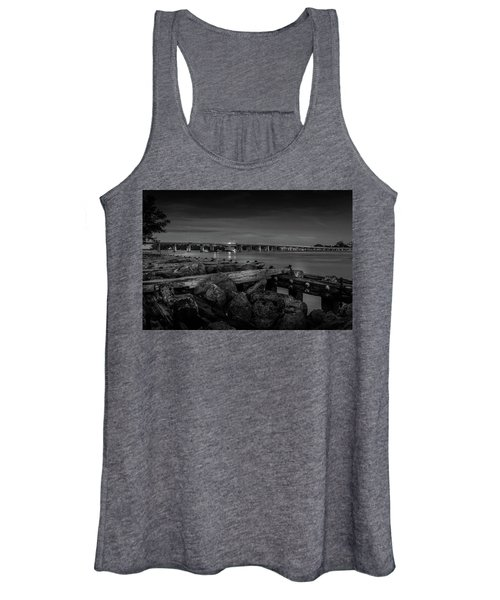 Bridge To Longboat Key In Bw Women's Tank Top