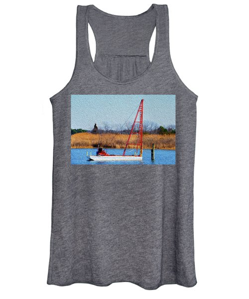 Bright Paintery Barge Women's Tank Top