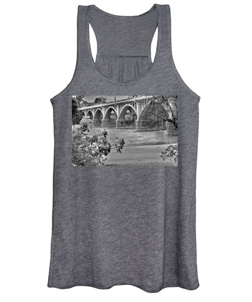 Gervais Street Bridge Black And White Women's Tank Top