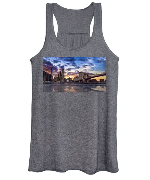Brooklyn Bridge Manhattan Sunset Women's Tank Top