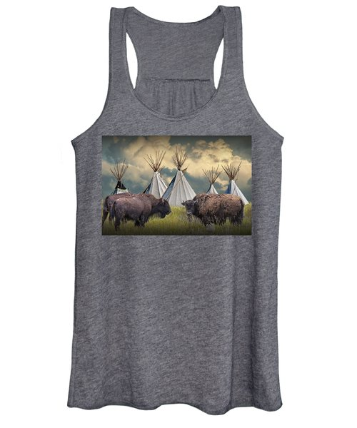 Buffalo Herd On The Reservation Women's Tank Top
