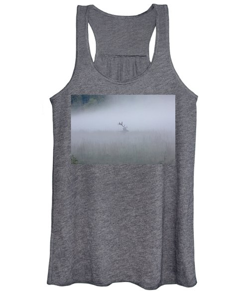 Bull Elk In Fog - September 30, 2016 Women's Tank Top