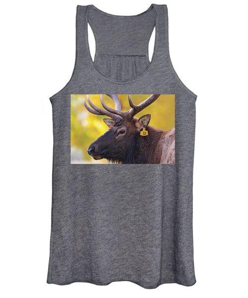 Bull Elk Number 10 Women's Tank Top