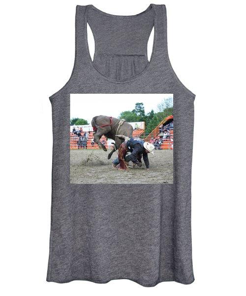 Bull Riding Action Women's Tank Top