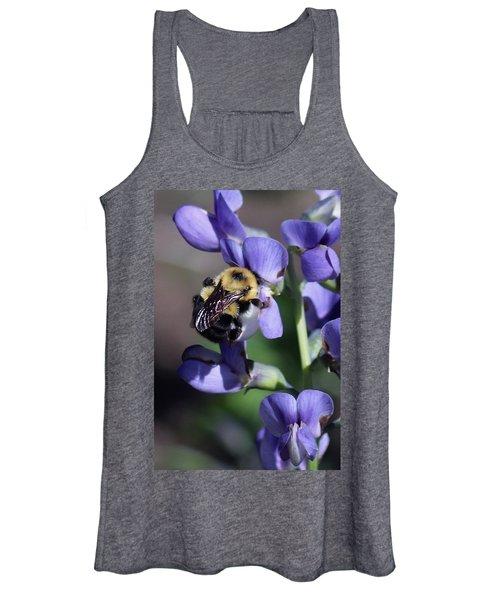 Bumble Bee, Blue Indigo Women's Tank Top