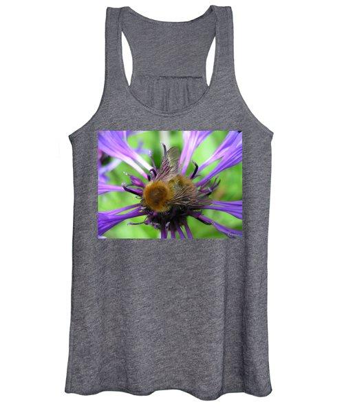 Bumblebee In Blue Women's Tank Top