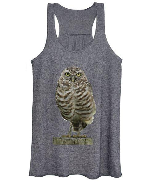 Burrowing Owl Lookout Women's Tank Top