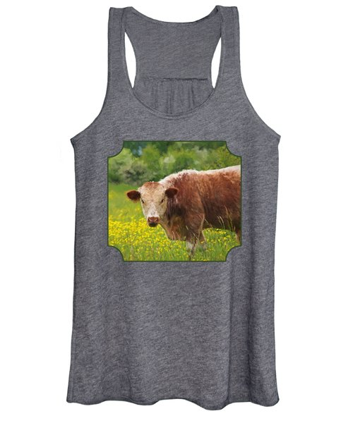 Buttercup - Brown Cow Women's Tank Top