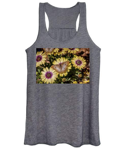 Butterfly On Blossoms Women's Tank Top