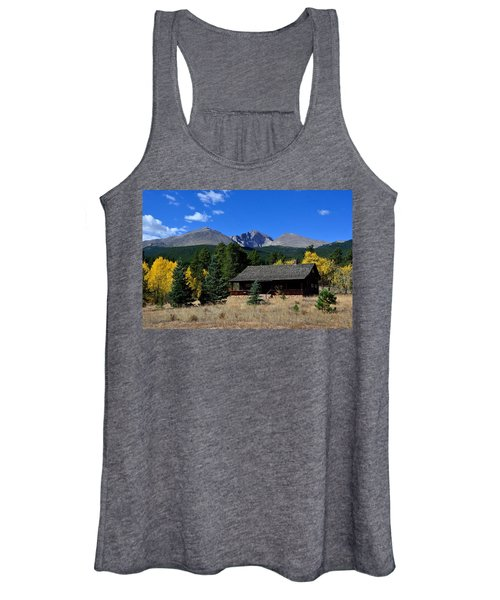 Cabin With A View Of Long's Peak Women's Tank Top