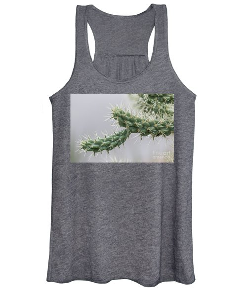 Cactus Branch With Wet White Long Needles Women's Tank Top