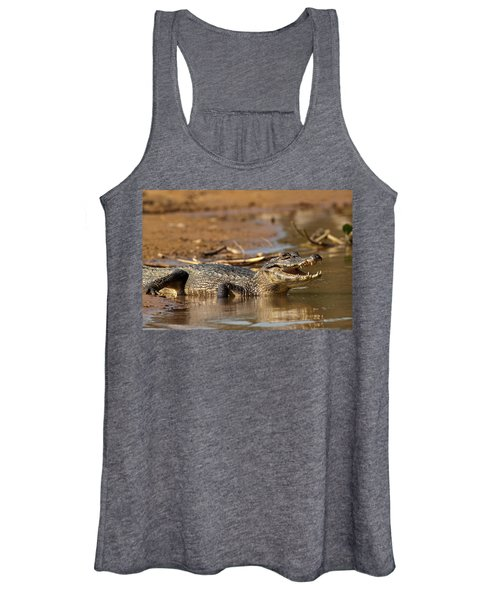 Caiman With Open Mouth Women's Tank Top