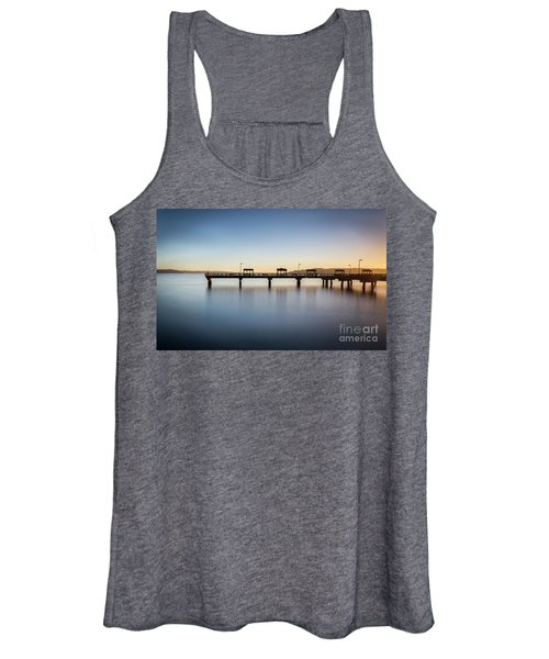 Calm Morning At The Pier Women's Tank Top