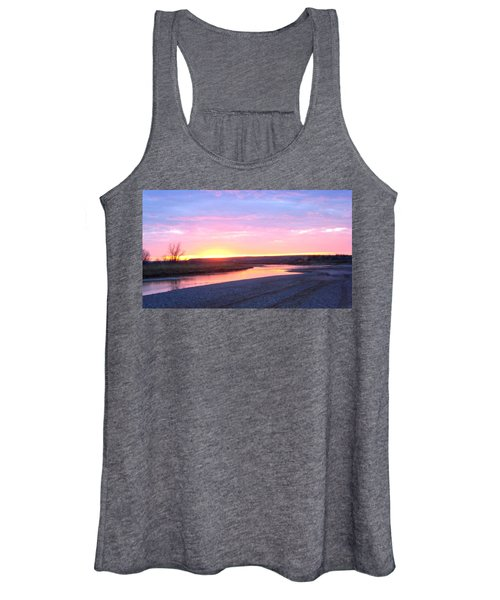 Canadian River Sunset Women's Tank Top