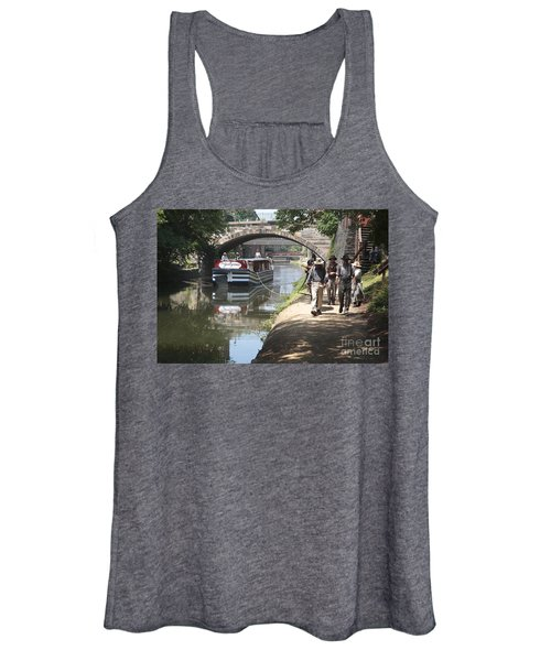 Canal Boat And Mule Team On The C And O Canal In Georgetown In Washington Dc Women's Tank Top