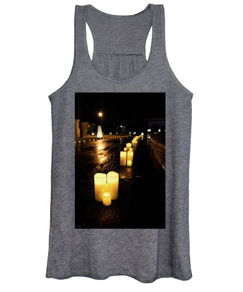 Candles On The Beach Women's Tank Top