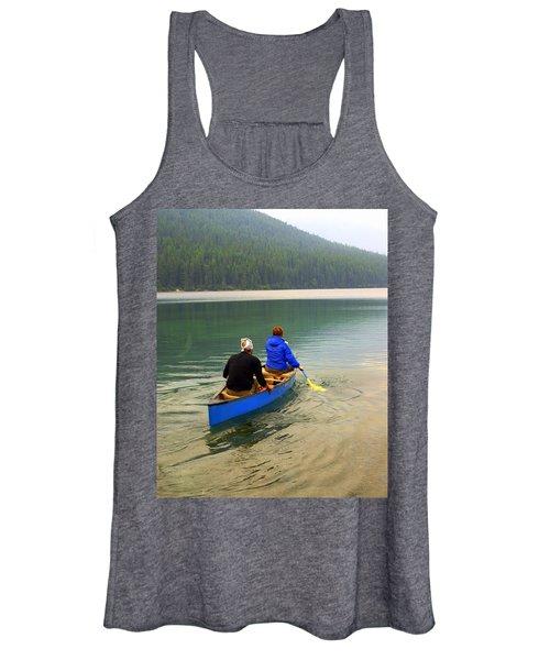 Canoeing Glacier Park Women's Tank Top