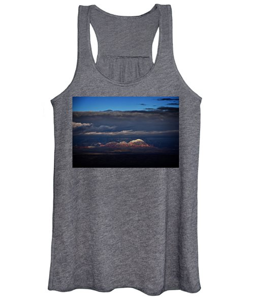 Capitol Butte In Sedona With Snow Women's Tank Top