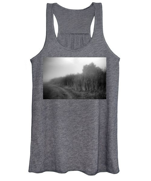 Women's Tank Top featuring the photograph Cattails In The Fog by Michael Colgate