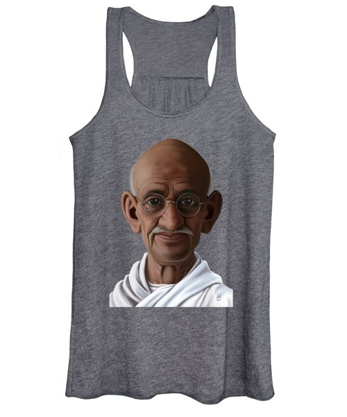 Celebrity Sunday - Mahatma Gandhi Women's Tank Top