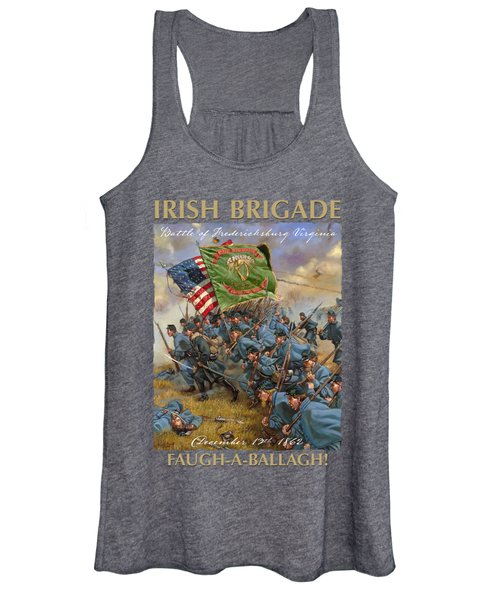 Charge Of The Irish Brigade - 28th Massachusetts Infantry - Battle Of Fredericksburg  Women's Tank Top