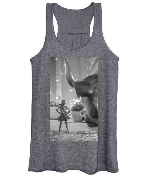 Charging Bull And Fearless Girl Nyc  Women's Tank Top