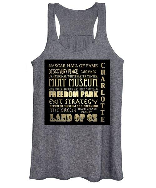 Charlotte North Carolina Famous Landmarks Women's Tank Top