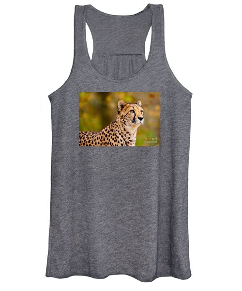 Cheetah In A Forest Women's Tank Top