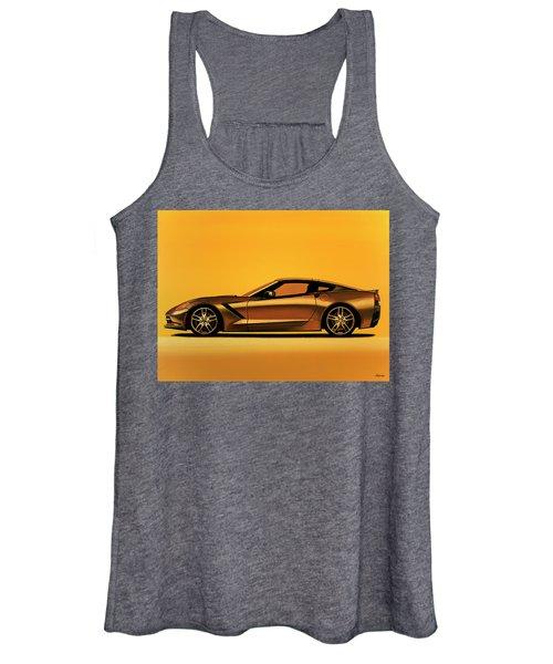 Chevrolet Corvette Stingray 2013 Painting Women's Tank Top