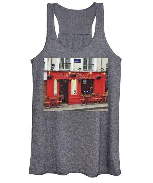 Chez Marie Restaurant, Montmartre, Paris Women's Tank Top