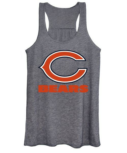 Chicago Bears On An Abraded Steel Texture Women's Tank Top